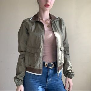 Olive Green Authentic Prada Bomber Jacket  - Tg.42